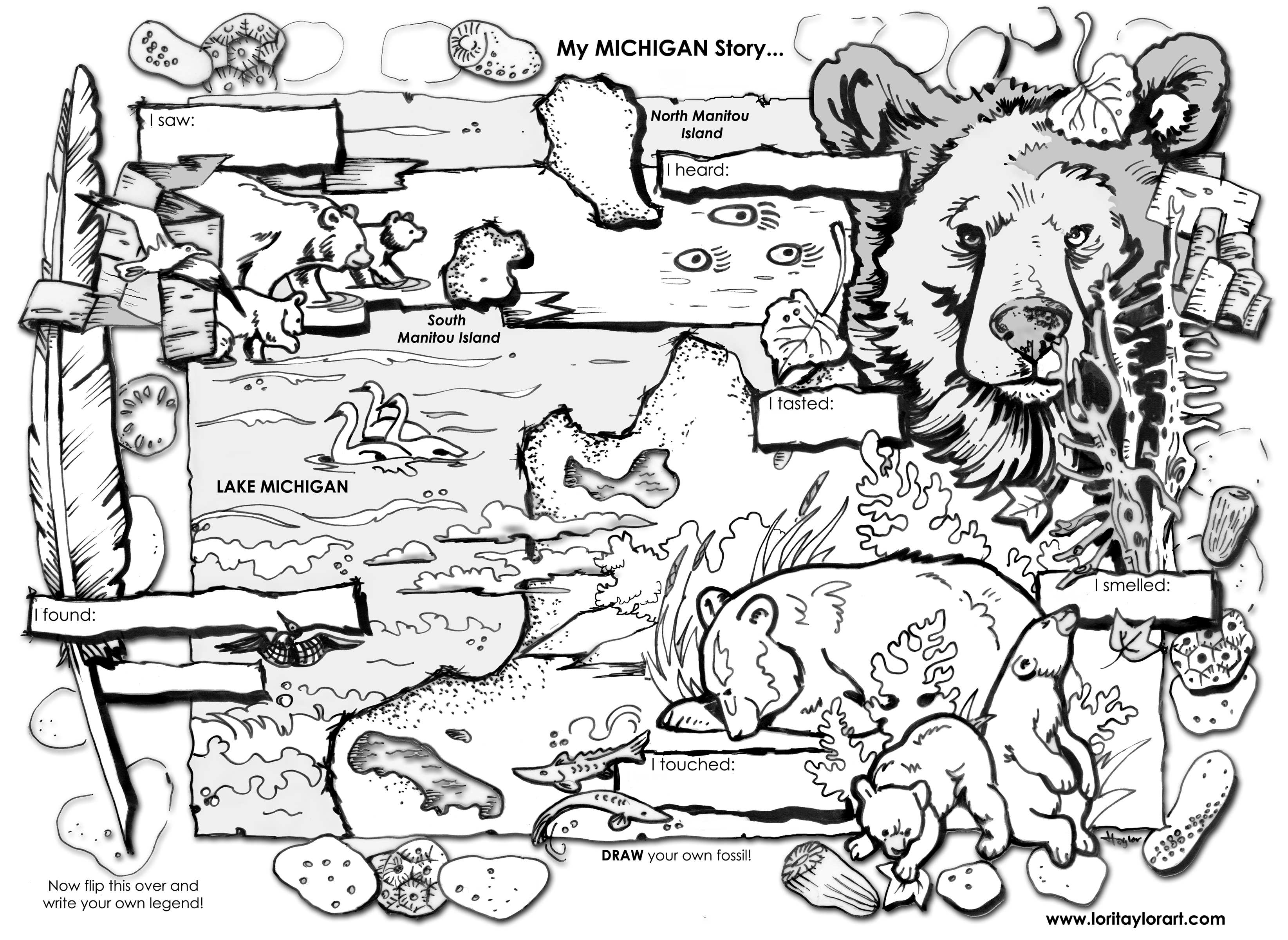 Uncategorized Michigan Coloring Pages free kids stuff lori taylor art lakeshore coloring sheet
