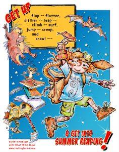 hw summer night reading poster